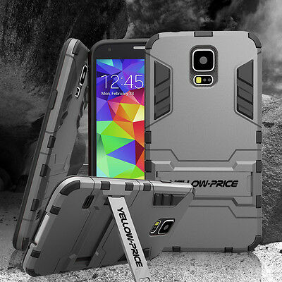 $ CDN12.99 • Buy Samsung S5 Shockproof Case Heavy Duty Armor Stand Cover For Galaxy S6 S7 Edge