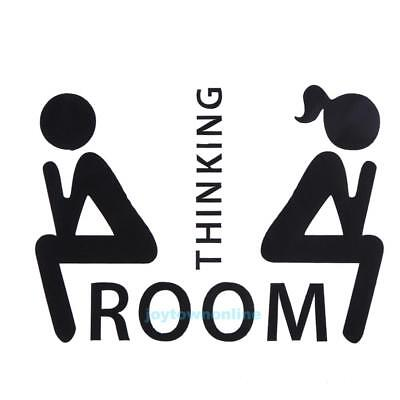 £3.44 • Buy Thinking Room Toilet Wall Stickers Decals WC Bathroom Door Sign Removable Decor