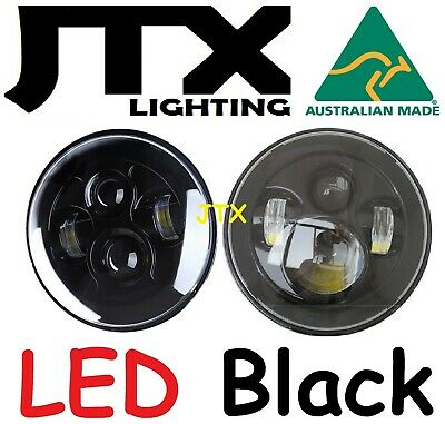 AU295 • Buy JTX 7  LED Headlights Plain Black No Halo Ford Bronco PickUp F100 F150 F250 F350