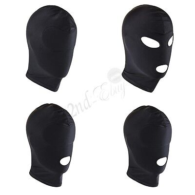 £3.22 • Buy Unisex Blindfold Face Cover Spandex Costume Hood Open Eye Mouth Headgear