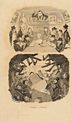 George  Cruikshank Illustration 1841 : Going - Gone ! • 18£