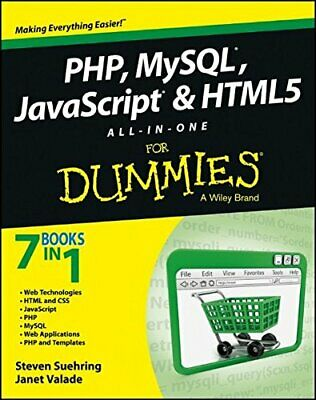 £8.49 • Buy PHP, MySQL, JavaScript & HTML5 All� In� One For Dummies By Valade, Janet Book