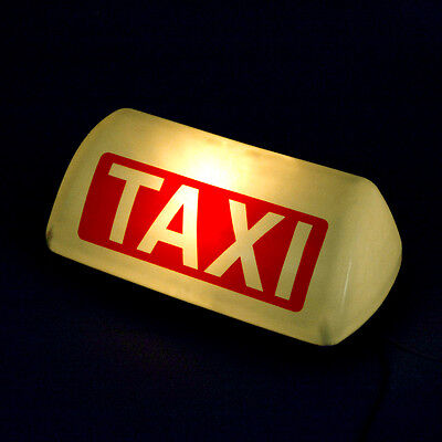 $17.99 • Buy 12V Taxi Cab Sign Roof Top Topper Car Yellow Bright Light Lamp 11   White Shell