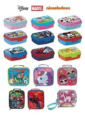 Kids Character Sandwich Lunch Box Food, Fruit Container Childrens School, Picnic • 15.99£