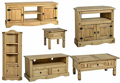 £109.99 • Buy Corona Waxed Pine Coffee Table Lamp End Table Nest Of Tables Book Case Wine Rack