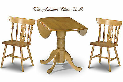 £149.99 • Buy Solid Wood Drop Leaf Table Dining Set In Honey Pine Finish With 2 Or 4 Chairs