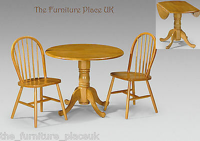 £56.72 • Buy Dundee Solid Wood Drop Leaf Table Dining Set In Honey Pine Finish 2 OR 4 Chairs