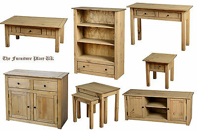 Panama Waxed Pine Coffee Table Lamp End Table Nest Of Tables Book Case   • 72.75£