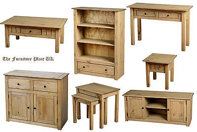 Mexican Waxed Pine, Coffee Table, Lamp End Table, Nest Of Tables Book Case   • 69.29£