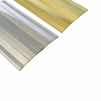 Extra Wide Cover Strip Carpet Metal Door Bar Trim - Threshold - Brass/Silv​er • 3.99£