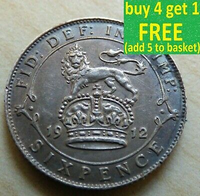 £1.99 • Buy George V Sixpence 6D Silver Coins Choose Your Date 1910-1936 Choice