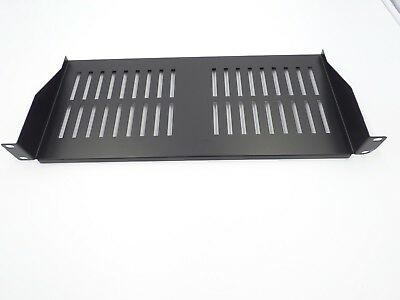 1U 200mm DEEP BLACK RACKMOUNT SHELF FOR 19 INCH RACK Racks AV Racks Cabinets  • 13.99£