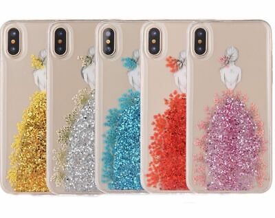 AU4.90 • Buy Shockproof Bling Glitter Girl Clear Case Cover For Apple IPhone Xs 8 7 Plus 6S