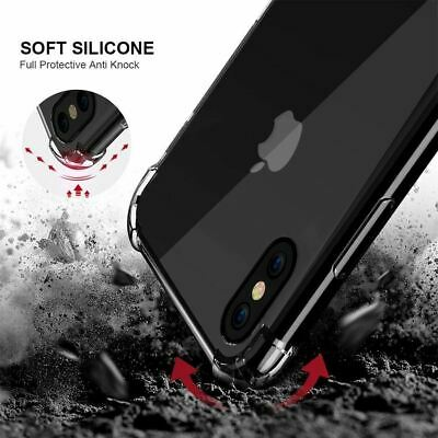 AU5.35 • Buy Shockproof Soft Clear Gel Cover For IPhone 12 11 Pro XS Max XR 8 Plus 7 6S Case