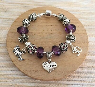 Personalised BIRTHDAY Gifts Bracelet 15th 16th 18th 21st 30th ~ Gift For Her ` ` • 10.99£