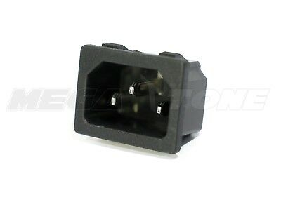 £1.43 • Buy (1 PC) 15A/250VAC IEC320 C14 Panel Mount Snap-In Male Plug Connector USA SELLER!