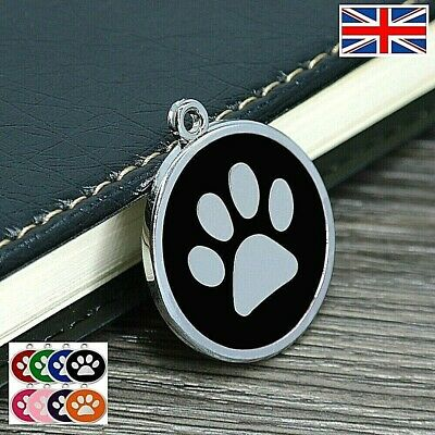 £3 • Buy FREE ENGRAVING Dog ID / Cat ID Name Tag Paw Personalised Puppy Pet ID Tags