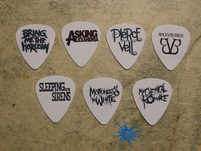 $ CDN6.99 • Buy Emo Band  SINGLE SIDED PICTURE GUITAR PICKS  Set Of 7
