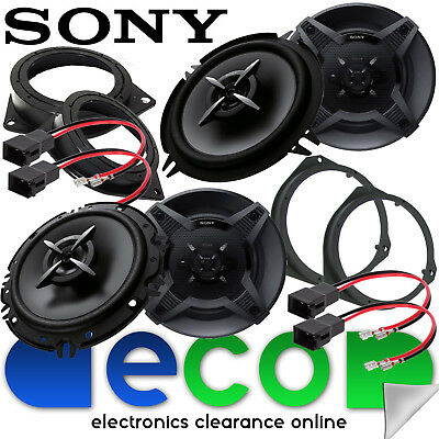 SONY Vauxhall Corsa D 2006-2014 Front Door & Rear Side Car Speaker Upgrade Kit • 89£