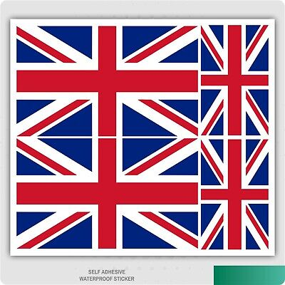 4 X Union Jack / British Flag Stickers For Car Van IPad Laptop Self Adhesive • 1.79£