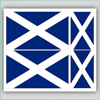4 X SCOTTISH / SCOTLAND FLAG VINYL CAR VAN IPAD LAPTOP STICKER • 1.79£