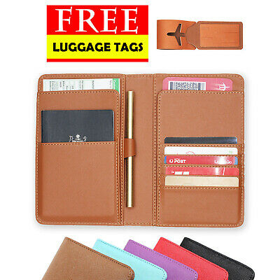AU14.99 • Buy Rfid Blocking Anti Scan Travel Passport Pu Leather Wallet Pouch Cover Organizer