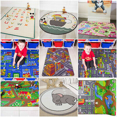 £17.95 • Buy Play Town Village Roads Kids Mats Cheap Small Large Street Cars Childrens Rug