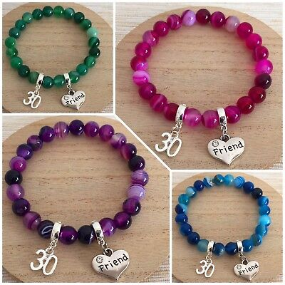 Personalised BIRTHDAY Gifts Bracelet 15th 16th 18th 21st 30th - Gift For Her >< • 5.99£