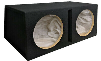 £119.99 • Buy Double Twin 12  Car Subwoofer Ported Enclosure 12in Sub Woofer Speaker Box Car!!