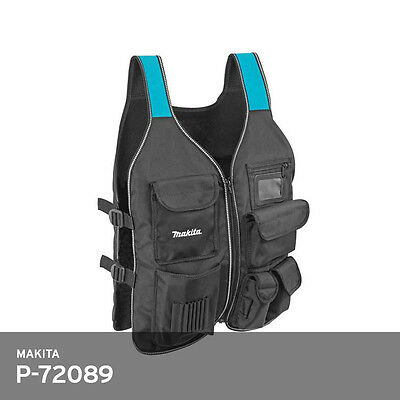 Makita P-72089 Tool Vest For Professional Worker M-Size 1.6lb 25x20In Free Ship • 55.68£