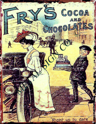£14.95 • Buy FRYS CHOCOLATES & COCOA ADVERT METAL SIGN RETRO STYLE12x16in Sweet Shop Garage