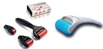 AU30.91 • Buy Beautimate Duo: 4 In 1 Derma Roller Set In Black & Cooling Ice Roller Treatment!