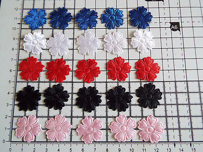 12pcs. IRON ON  Satin Flower  Motif - Applique ,Patch And  Decorations • 2.69£