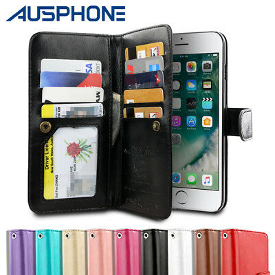 AU6.95 • Buy Leather Flip Case Wallet Cover Stand For IPhone 11 Pro XS Max XR 8 7 6S Plus 5S