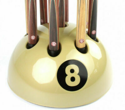 AU198.58 • Buy New Giant Golden 8 Ball Cue Rack Stand Snooker Billiard Pool Table 9 Cues