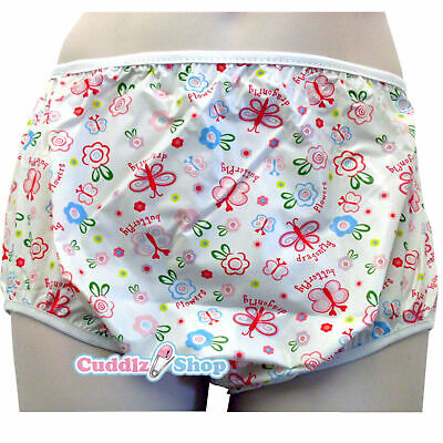 £11.49 • Buy Cuddlz Adult Size Butterfly Pink Pull Up PVC Plastic Pants Incontinence Briefs