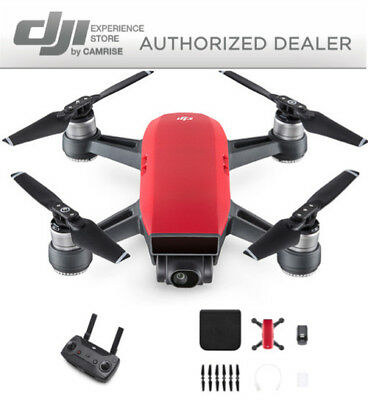 AU511.57 • Buy DJI Spark Drone Quadcopter Red And DJI Remote Controller