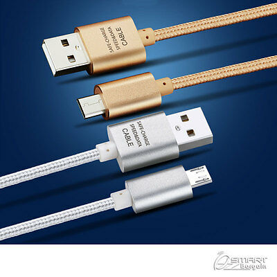 AU4.99 • Buy 1M Fiber USB Data Sync Charger Cable For Samsung Galaxy J7 Prime J5 Prime