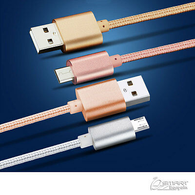 AU5.99 • Buy 2M Fiber USB Data Sync Charger Cable For Samsung Galaxy J7 Prime J5 Prime