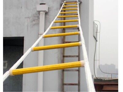Climbing Emergency Survival Strong Long Rope Building Fire Escape Rescue Ladder • 158.04£