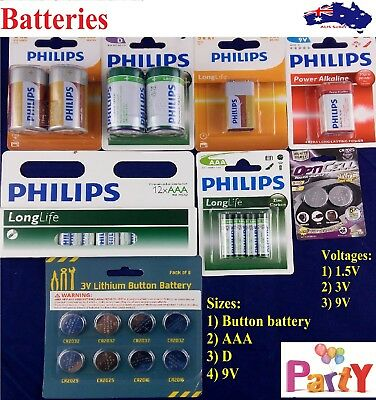 AU13.99 • Buy Phillips Battery Batteries AA 9V C AAA D Bulk Cheap Size Heavy Duty Alkaline Pac
