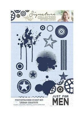 Crafter's Companion Clear Cling Rubber Stamp Urban Graffitti Paint Blotches • 9.19£