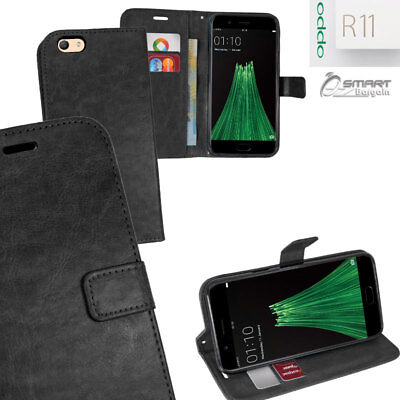AU6.99 • Buy Black Wallet Flip Card Slot Stand Case Cover For Oppo R11