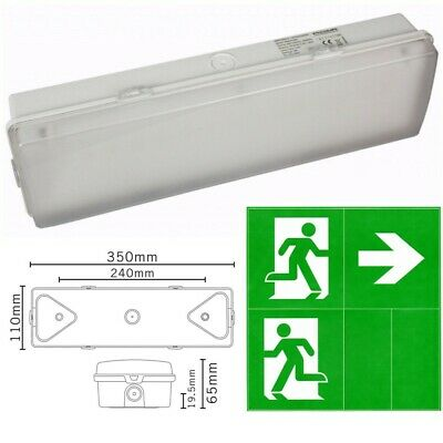 £12.47 • Buy  Fire Exit Emergency Ceiling Wall Light LED Maintained Illuminated Bulkhead Sign