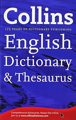 £11.99 • Buy Collins English Dictionary & Thesaurus By Collins Book The Cheap Fast Free Post