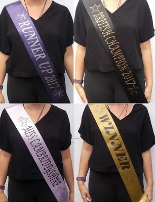 £1.98 • Buy Personalised  Graduation , Competition,Dance Schools & Pageant Sashes