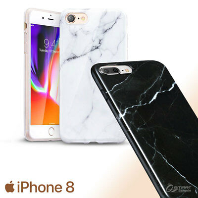 AU5.99 • Buy Marble TPU Jelly Gel Case Cover For IPhone 8 / IPhone 8 Plus / IPhone 7 Plus