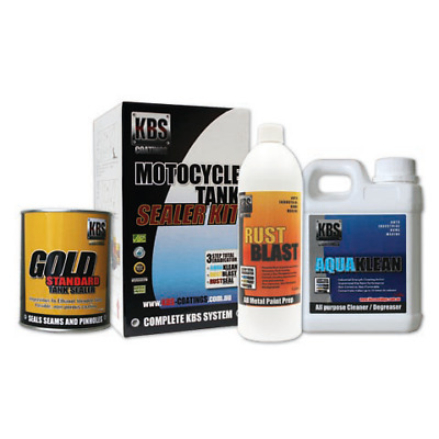 AU92 • Buy KBS Motorcycle Fuel Tank Sealer Repair Kit Rust And Corrosion Prevention Degreas