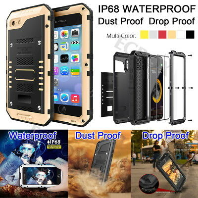 AU34.86 • Buy Armor IP68 Waterproof Metal Extreme Rugged Case Cover + Screen Glass For IPhone
