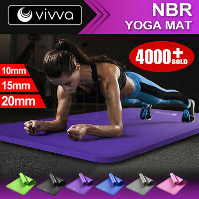 AU39.99 • Buy VIVVA 10/15/20MM VIVA NBR Thick Yoga Mat Pad Nonslip Exercise Fitness Pilate